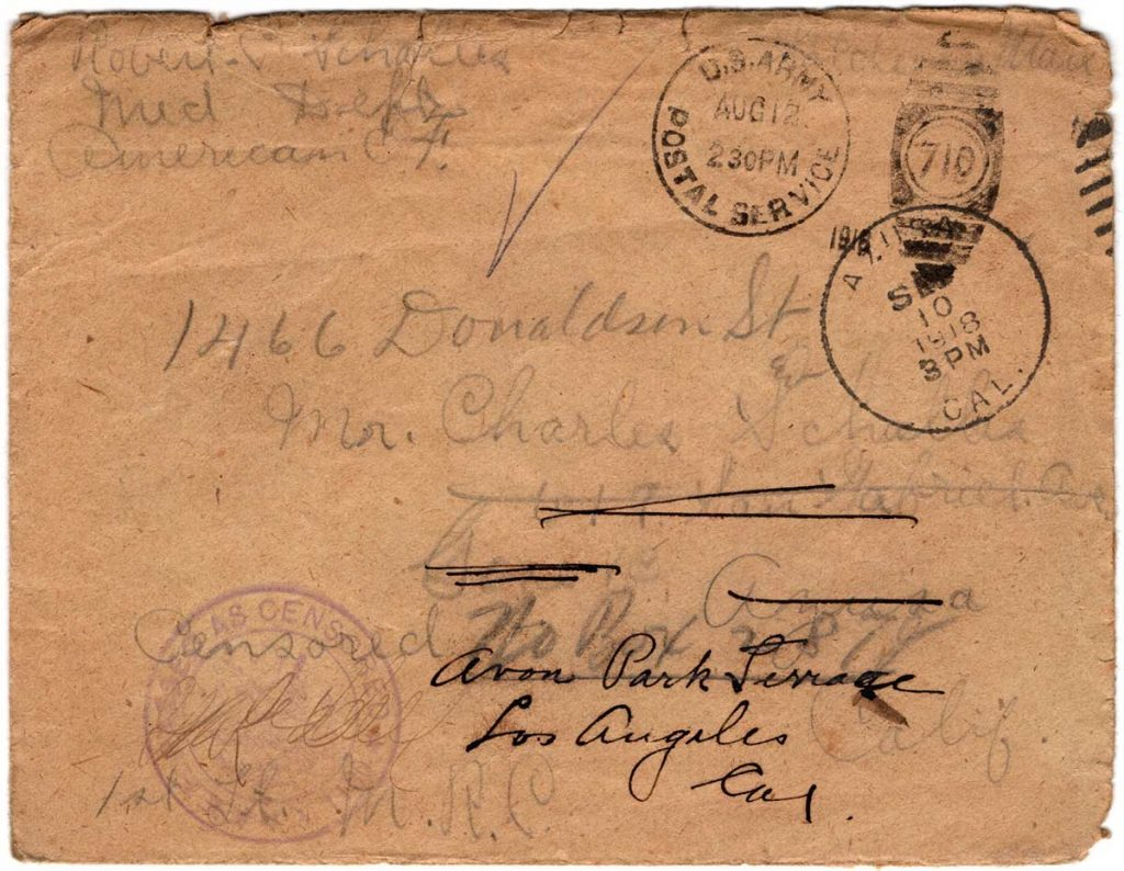 World War One (WWI) Envelope, The Worse for It, August 10, 1918