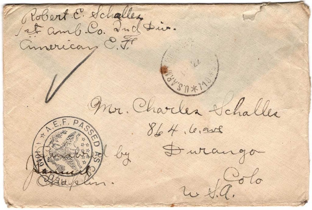 World War One (WWI) Envelope, The Worse for It, January 18, 1919