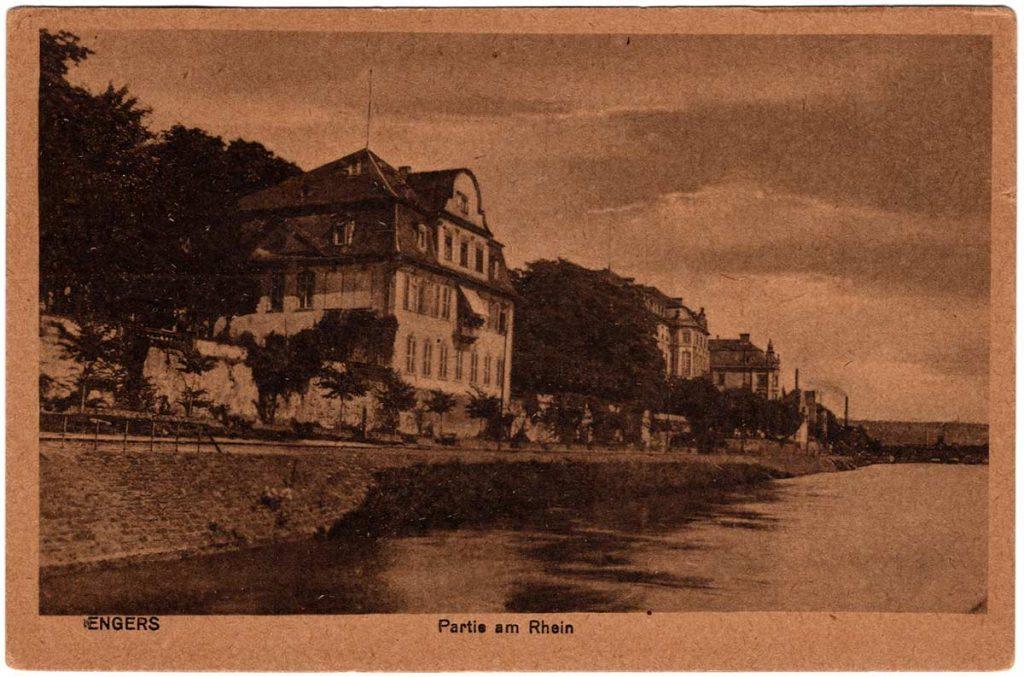 Postcard: Engers Germany on the Rhein