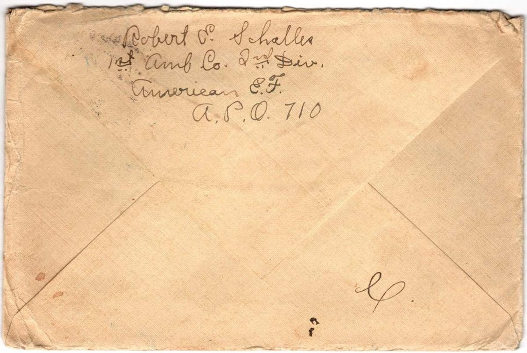 World War One (WWI) Envelope, The Worse for It, March 30, 1919, The Back