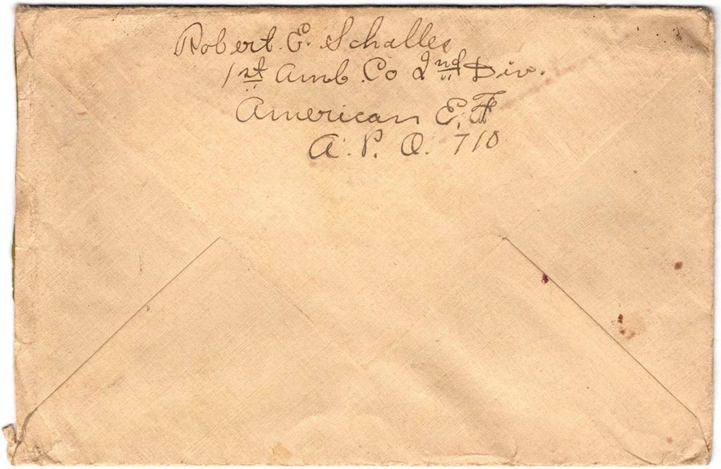 World War One (WWI) Envelope, The Worse for It, March 26, 1919 - The Back