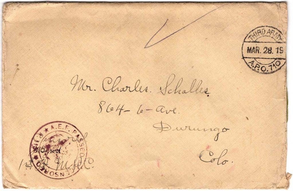 World War One (WWI) Envelope, The Worse for It, March 26, 1919 - The Front