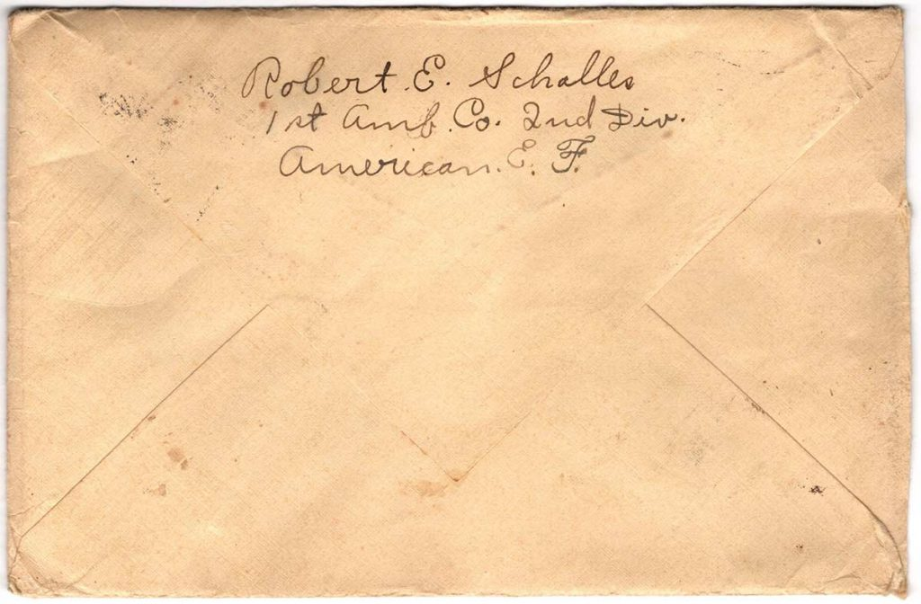 World War One (WWI) Envelope, The Worse for It, April 2, 1919 - The Back