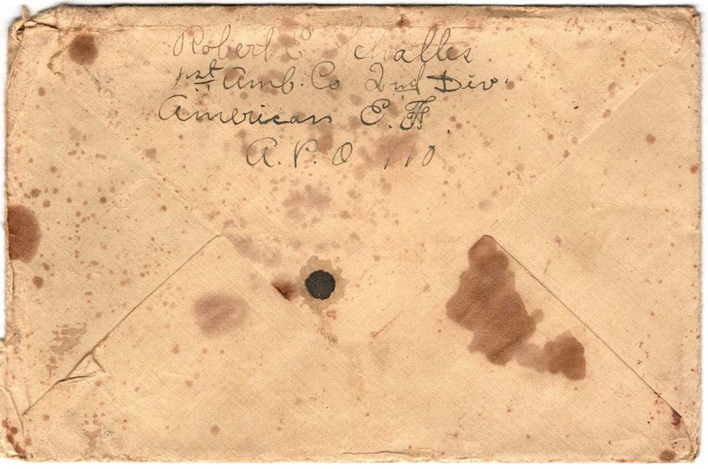 World War One (WWI) Envelope, The Worse for It, April 15, 1919 - Back