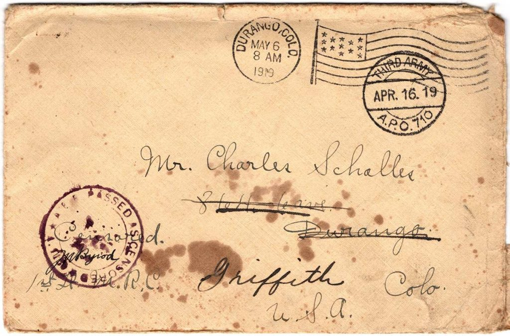 World War One (WWI) Envelope, The Worse for It, April 15, 1919 - Front