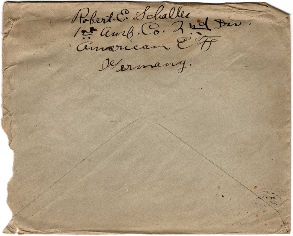 World War One (WWI) Envelope, The Worse for It, May 11, 1919, Mother's Day - Back