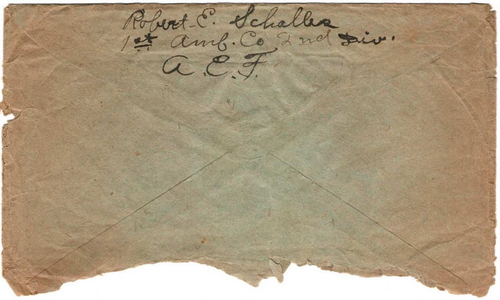 World War One (WWI) Envelope, The Worse for It, May 18, 1919, Back