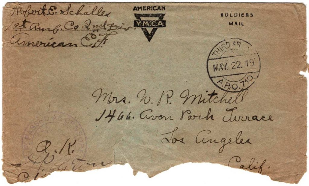 World War One (WWI) Envelope, The Worse for It, May 18, 1919, Front