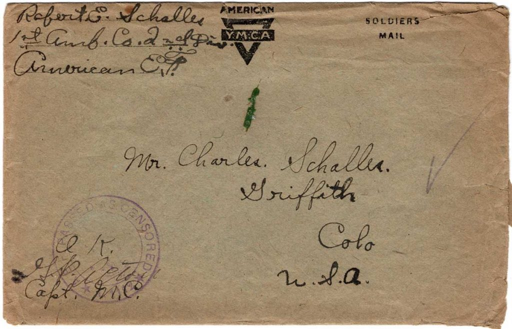 World War One (WWI) Envelope, The Worse for It, May 23, 1919 Front
