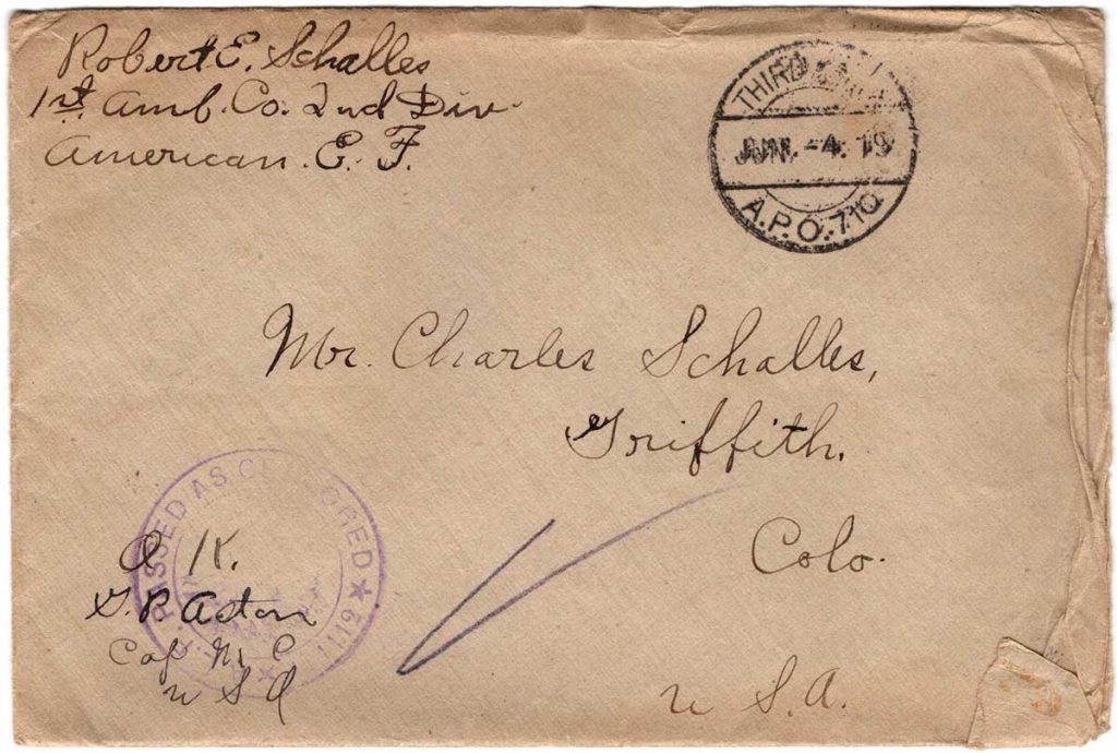 World War One (WWI) Envelope, The Worse for It, June 1, 1919