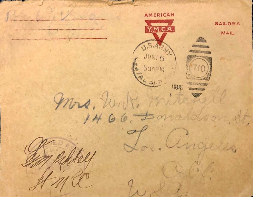 World War One (WWI) Envelope, The Worse for It, June 10, 1918
