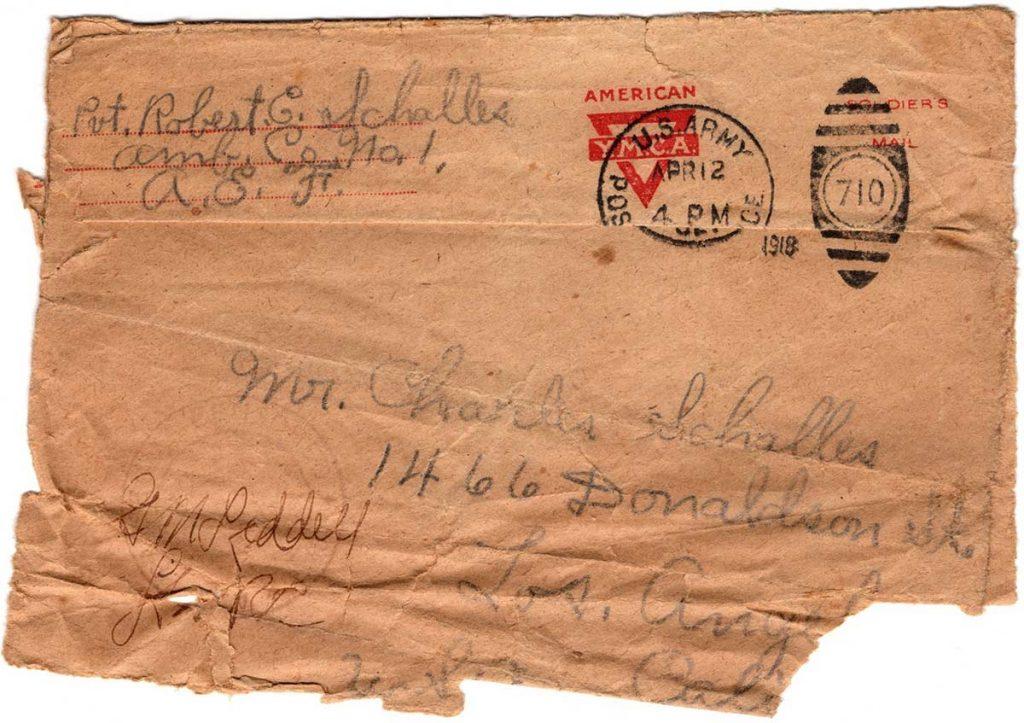 World War One (WWI) Envelope, April 12, 1918