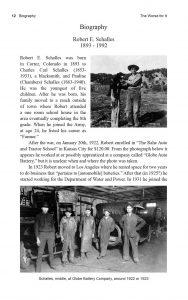 The Worse for It: Robert E. Schalles: World War One: Biography