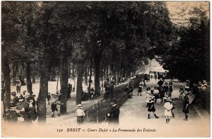 Old Postcard - Brest, France : Cours Dajot - La Promenade des Enfants