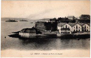 Old Postcard - Brest, France : L'Entre du Port et le Goulet