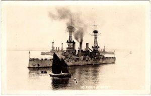 Old Postcard - Brest, France : U.S. Fleet at Brest