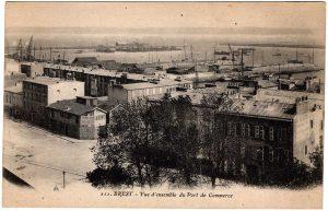 Old Postcard - Brest, France : Vue d'ensemble du Port de Commerce