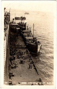 Old Postcard - Brest, France : Gobs Coaling at Brest: 6-10-19