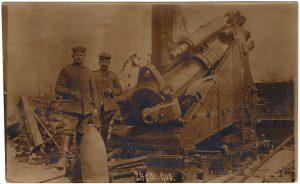 World War One (WWI): Large gun/cannon. 24cm gun