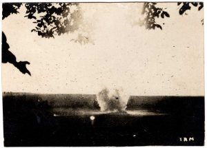 World War One (WWI): Explosion in the distance