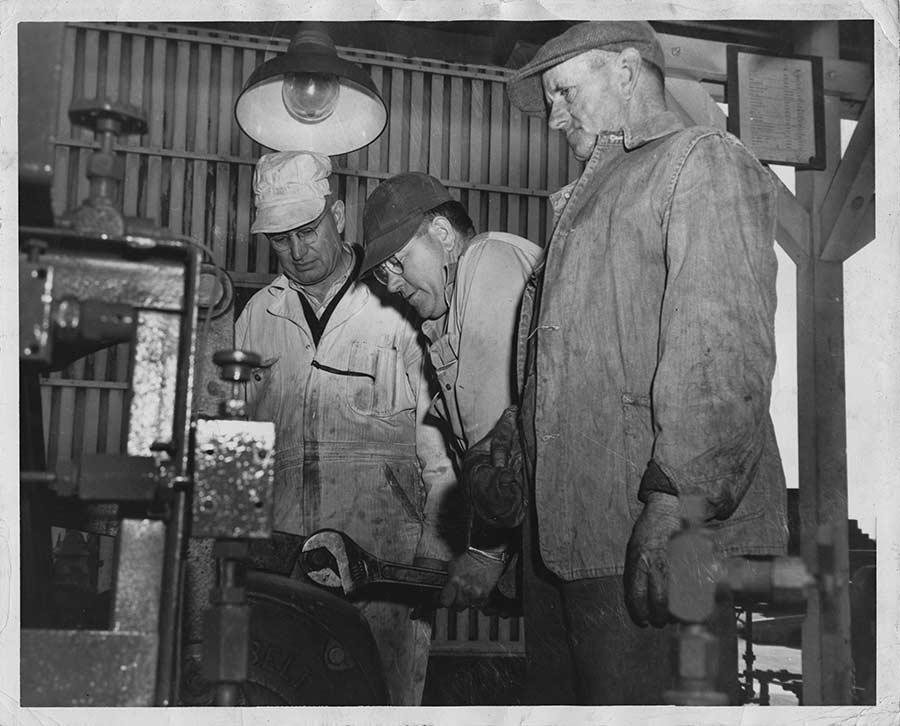 Robert Schalles (left) at the Fluor Corporation