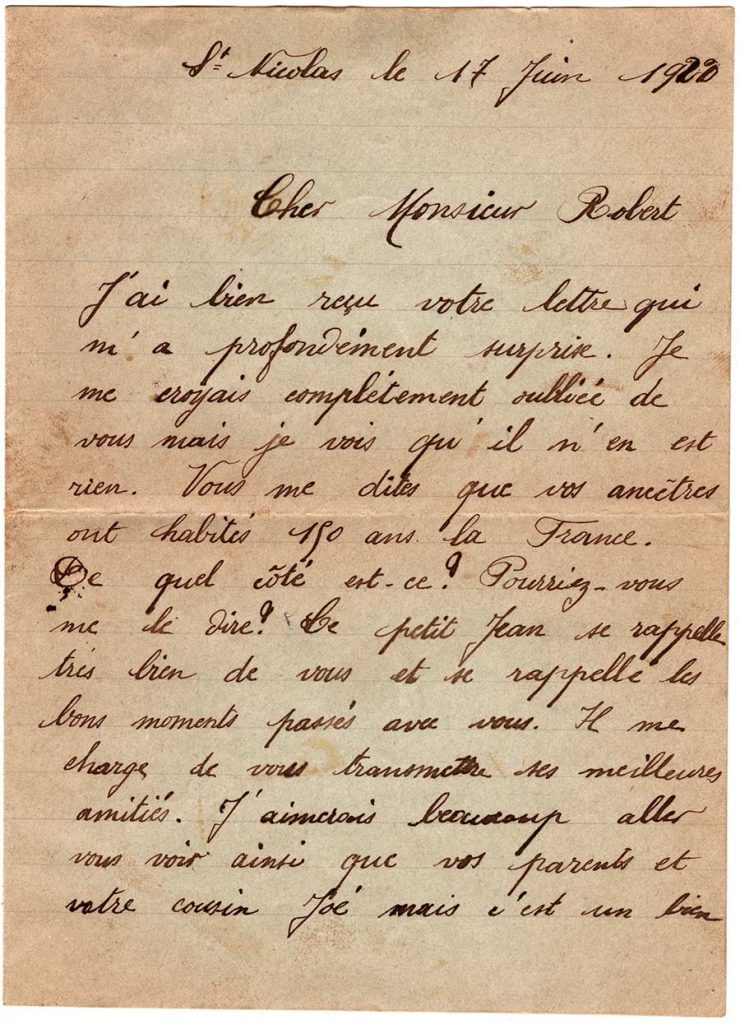 Letter from Georgette Schalles, June 17, 1920 - page 1