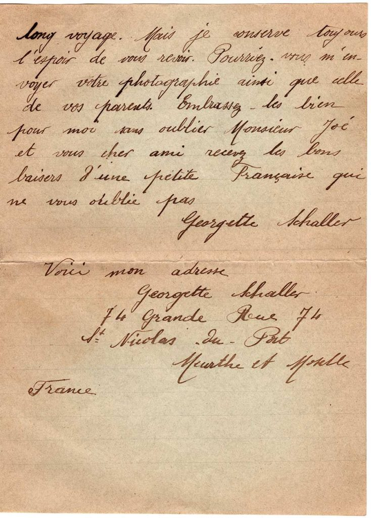 Letter from Georgette Schalles, June 17, 1920 - page 2