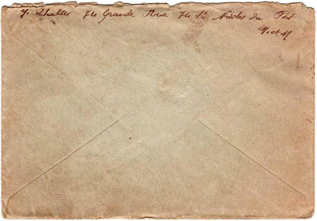 Letter from Georgette Schalles, June 17, 1920 - Envelope back