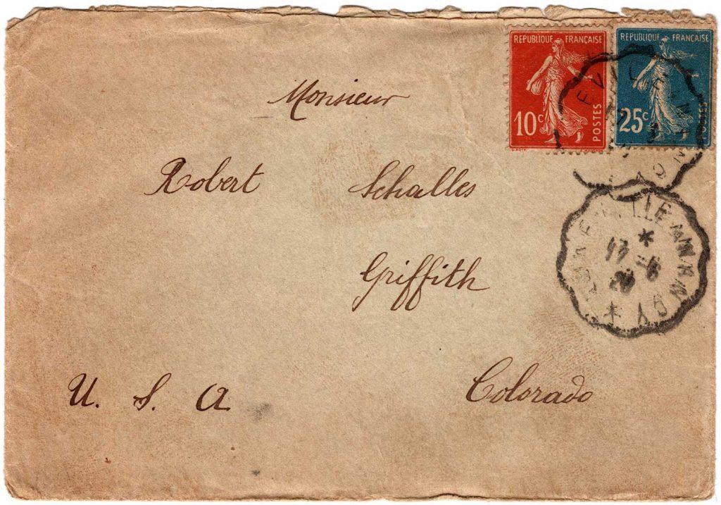 Letter from Georgette Schalles, June 17, 1920 - Envelope front