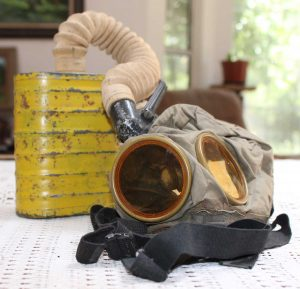 World War One (WWI) Gas Mask owned by Robert E. Schalles - View 1