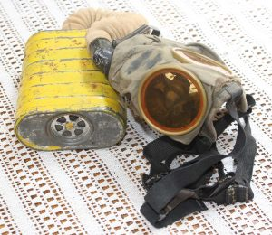 World War One (WWI) Gas Mask owned by Robert E. Schalles - View 4