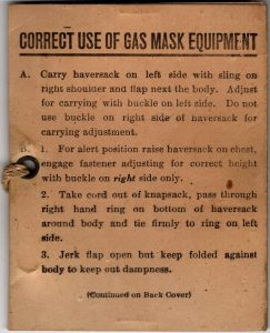 Gas Mask Instructions - View 1
