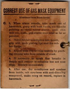Gas Mask Instructions - View 2