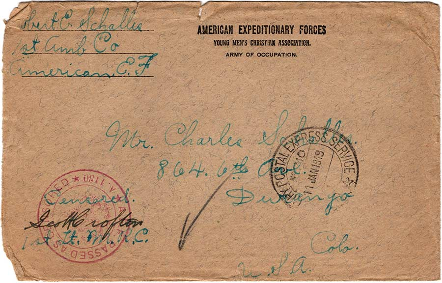World War One (WWI) Envelope, The Worse for It, January 1, 1918