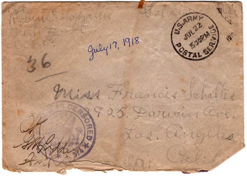 World War One (WWI) Envelope, The Worse for It, July 17, 1918