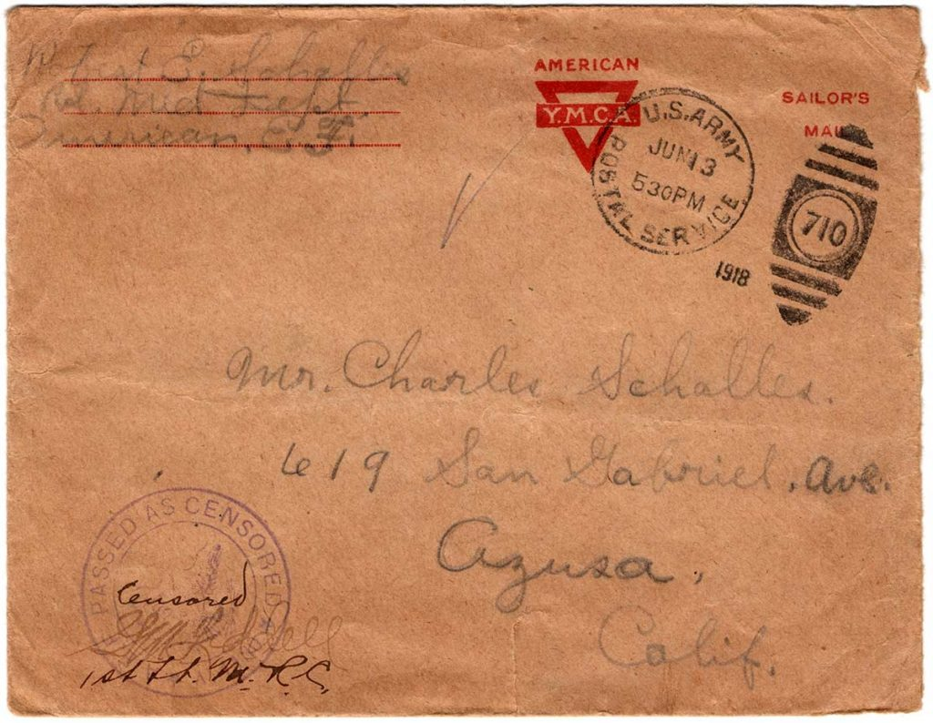 World War One (WWI) Envelope, The Worse for It, June 11, 1918