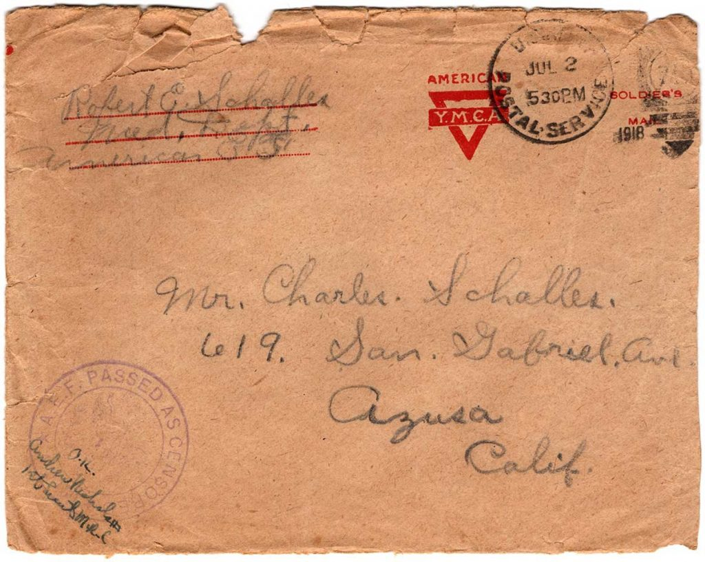 World War One (WWI) Envelope, The Worse for It, June 30, 1918