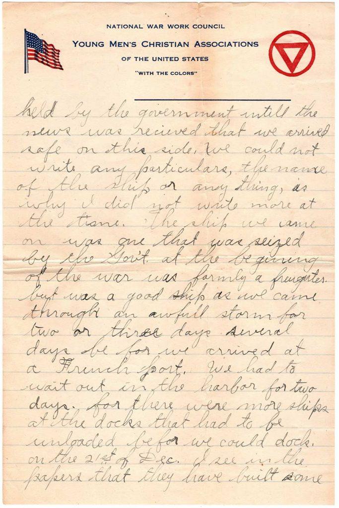 Robert E. Schalles World War One Letter, March 10, 1918, Page 2