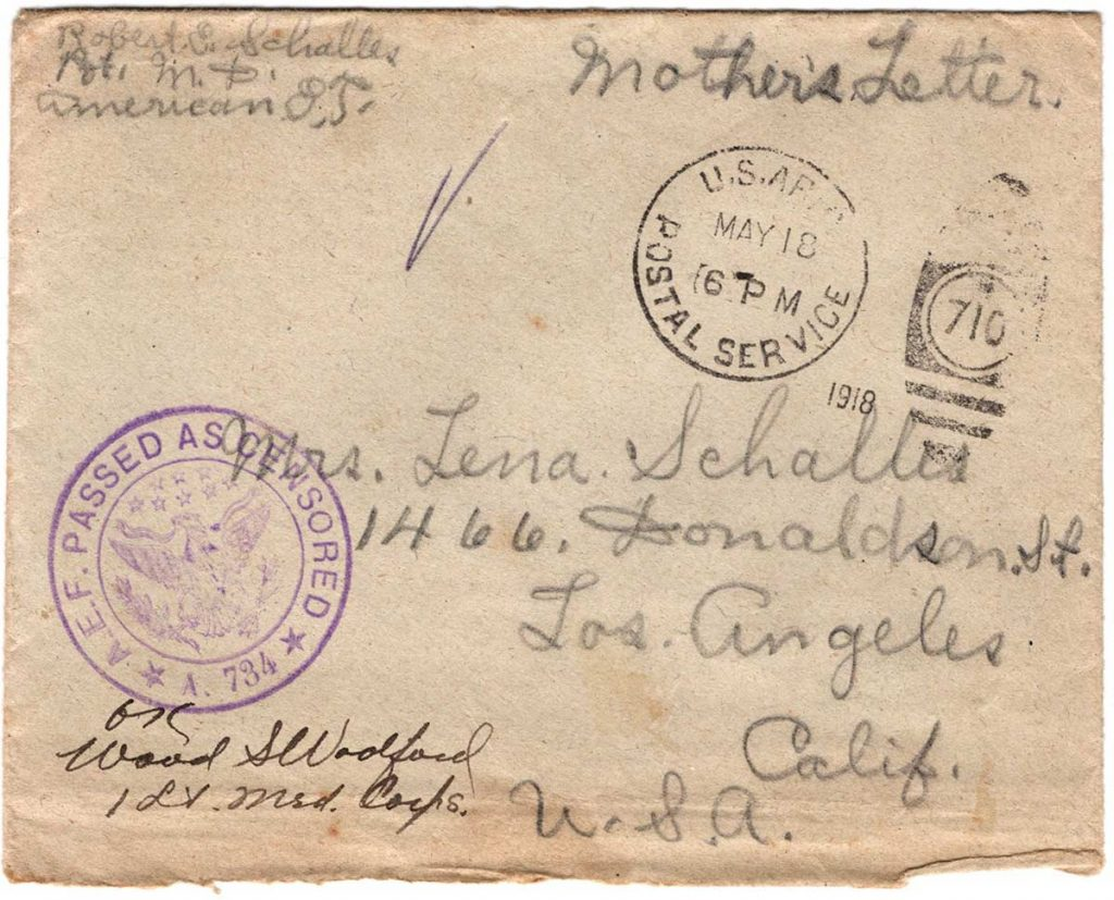 World War One (WWI) Envelope, The Worse for It, May 12, 1918