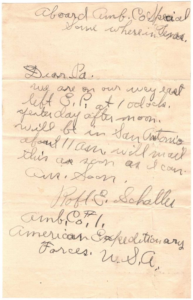 Letter by Robert E. Schalles, November 25, 1917 - To Pa