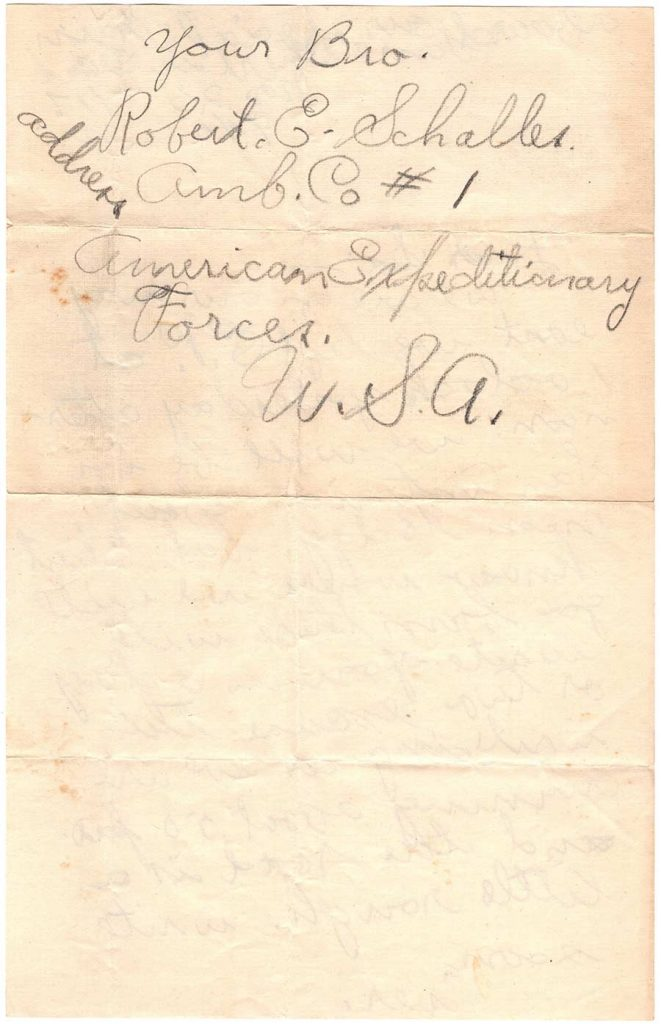 Letter by Robert E. Schalles, November 25, 1917 - To Sis - Page 2