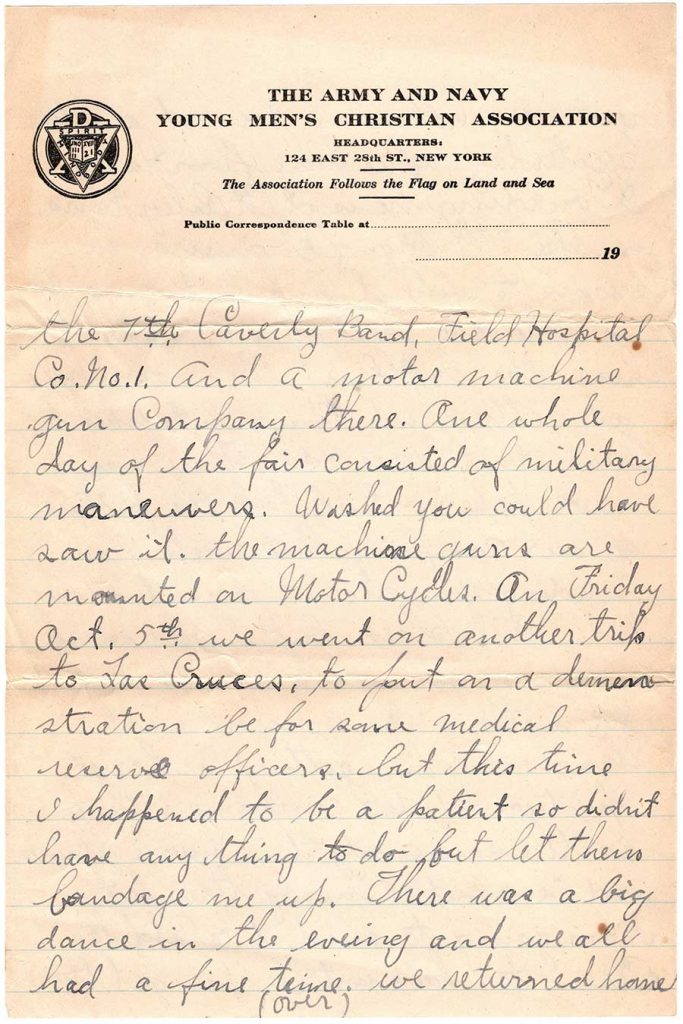 Letter by Robert E. Schalles, October 17, 1917 - page 2