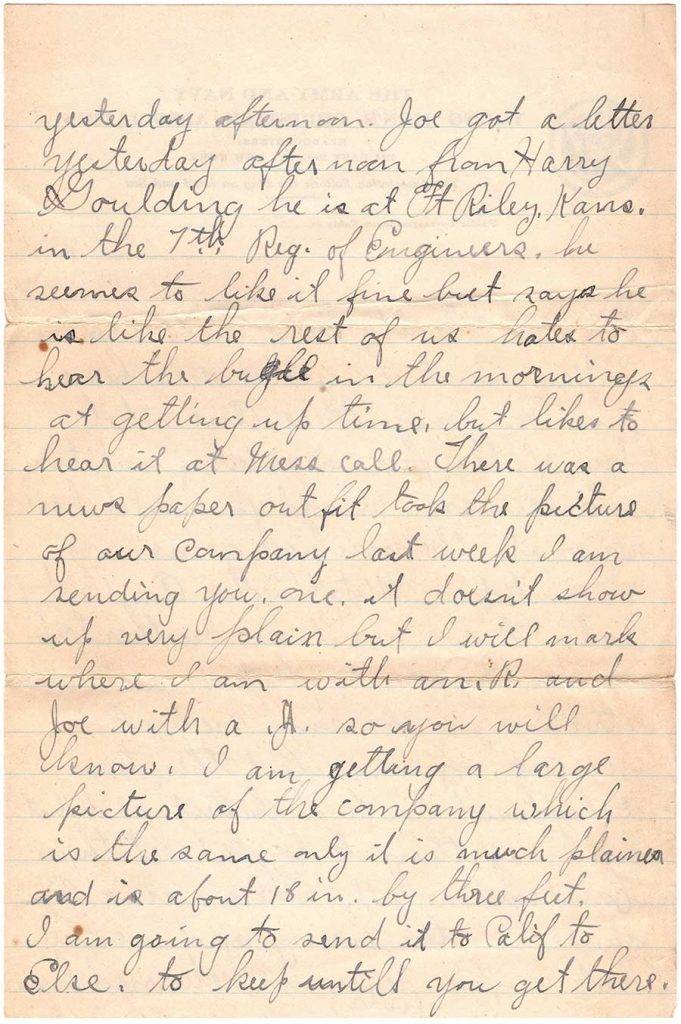 Letter by Robert E. Schalles, October 17, 1917 - page 3