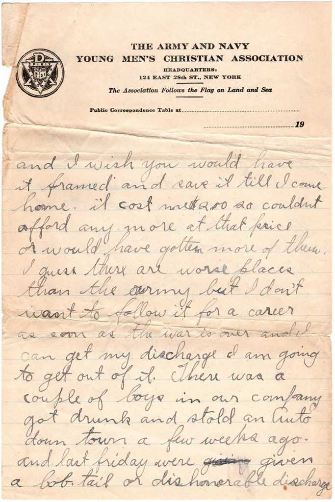 Letter by Robert E. Schalles, October 17, 1917 - page 4