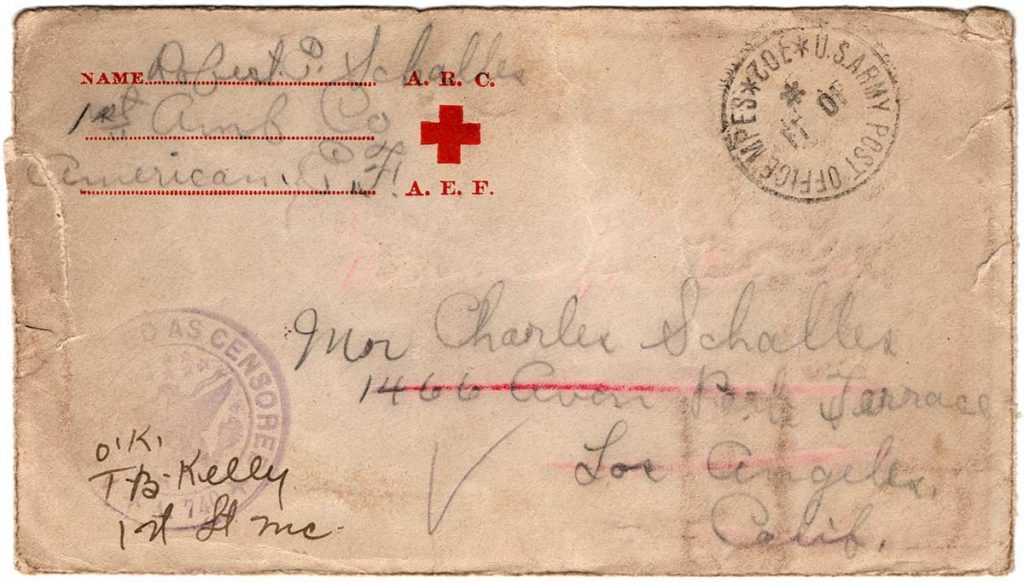 World War One (WWI) Envelope, The Worse for It, October 8, 1918