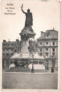 Postcard - Paris: La Place de la Republique