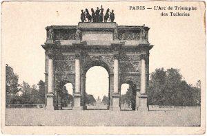 Postcard - Paris: L'Arc de Triomphe des Tuileries