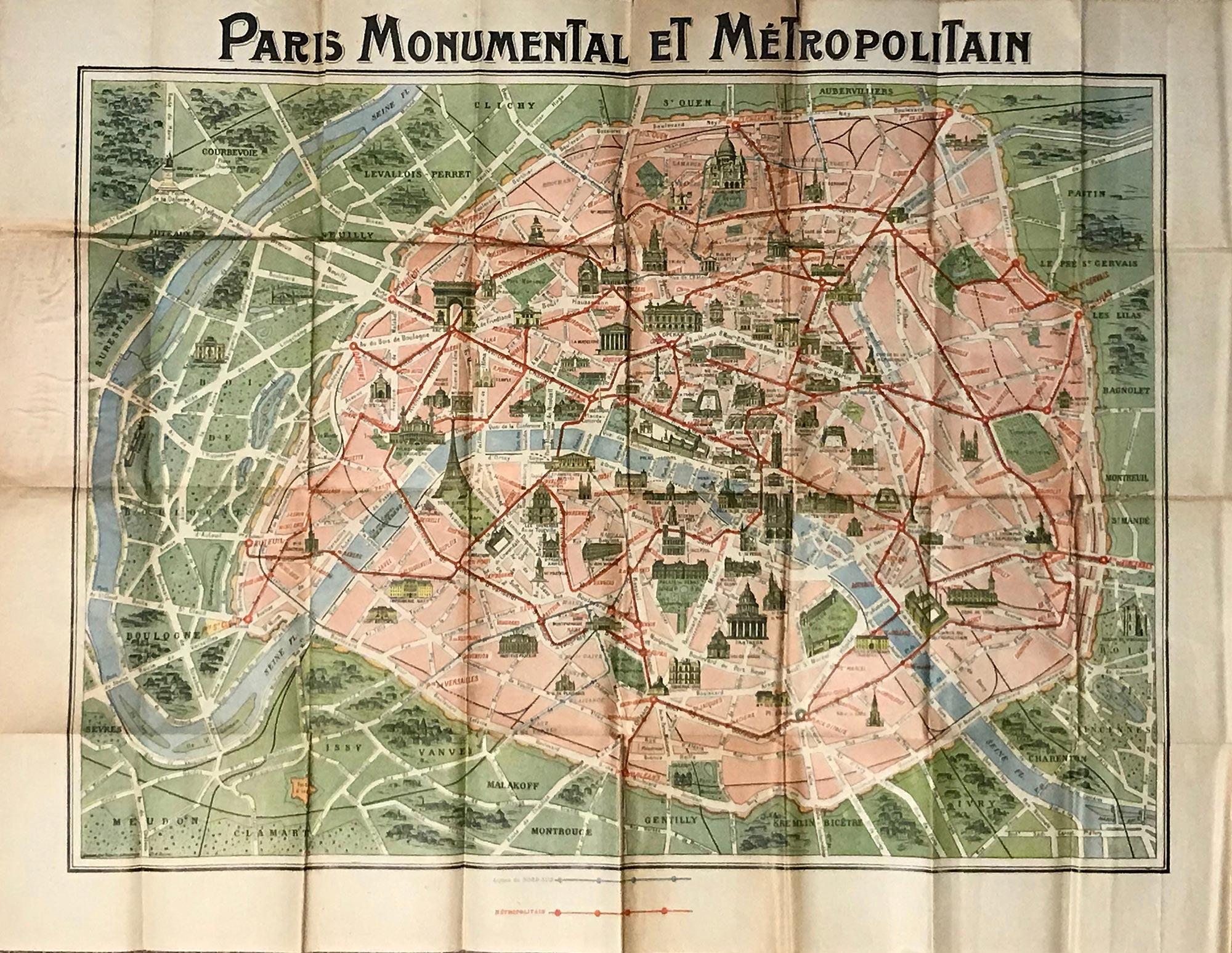 World War One Paris Map