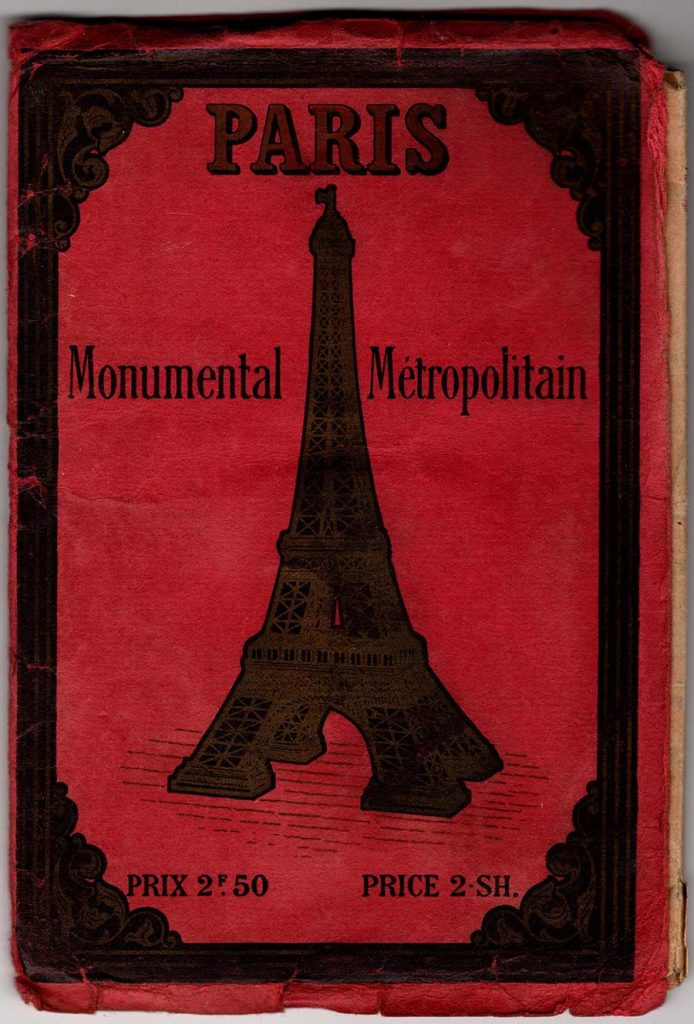 World War One Paris Map Cover