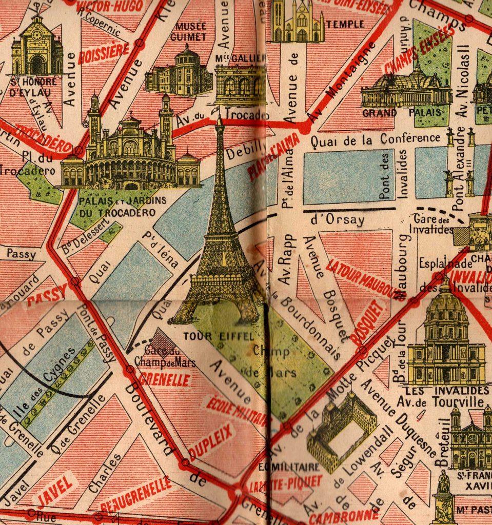 World War One Paris Map Detail 1